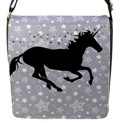 Unicorn on Starry Background Flap Closure Messenger Bag (Small)