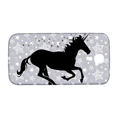 Unicorn on Starry Background Samsung Galaxy S4 I9500/I9505  Hardshell Back Case