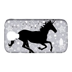 Unicorn on Starry Background Samsung Galaxy S4 Classic Hardshell Case (PC+Silicone)