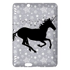 Unicorn on Starry Background Kindle Fire HDX 7  Hardshell Case
