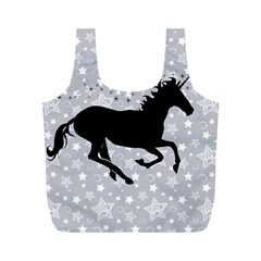 Unicorn on Starry Background Reusable Bag (M)