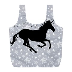 Unicorn on Starry Background Reusable Bag (L)