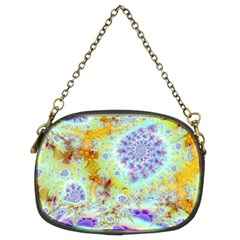 Golden Violet Sea Shells, Abstract Ocean Chain Purse (two Sided)
