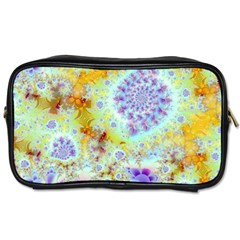Golden Violet Sea Shells, Abstract Ocean Travel Toiletry Bag (two Sides)