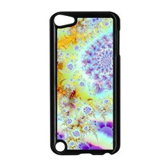 Golden Violet Sea Shells, Abstract Ocean Apple iPod Touch 5 Case (Black)