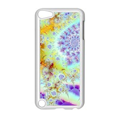 Golden Violet Sea Shells, Abstract Ocean Apple Ipod Touch 5 Case (white)