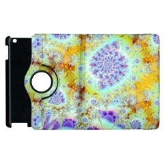 Golden Violet Sea Shells, Abstract Ocean Apple Ipad 3/4 Flip 360 Case