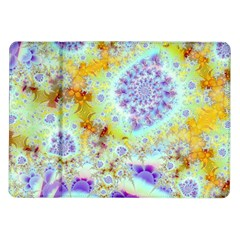 Golden Violet Sea Shells, Abstract Ocean Samsung Galaxy Tab 10.1  P7500 Flip Case