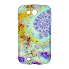 Golden Violet Sea Shells, Abstract Ocean Samsung Galaxy Grand GT-I9128 Hardshell Case
