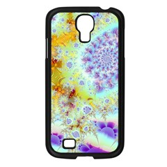 Golden Violet Sea Shells, Abstract Ocean Samsung Galaxy S4 I9500/ I9505 Case (Black)