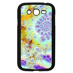 Golden Violet Sea Shells, Abstract Ocean Samsung Galaxy Grand DUOS I9082 Case (Black)