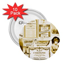 Parisgoldentower 2.25  Button (10 pack)