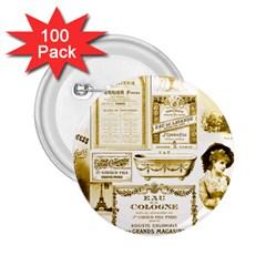 Parisgoldentower 2.25  Button (100 pack)