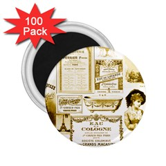 Parisgoldentower 2.25  Button Magnet (100 pack)