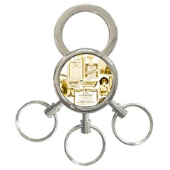Parisgoldentower 3-Ring Key Chain