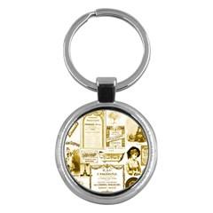 Parisgoldentower Key Chain (Round)