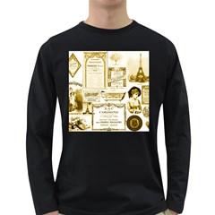 Parisgoldentower Men s Long Sleeve T-shirt (Dark Colored)
