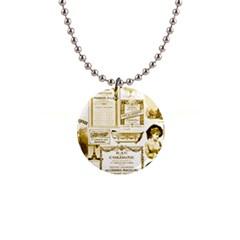 Parisgoldentower Button Necklace