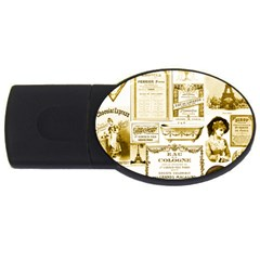 Parisgoldentower 4gb Usb Flash Drive (oval)