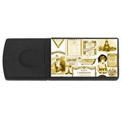 Parisgoldentower 4gb Usb Flash Drive (rectangle)