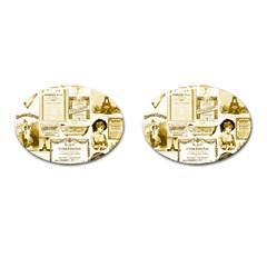 Parisgoldentower Cufflinks (Oval)