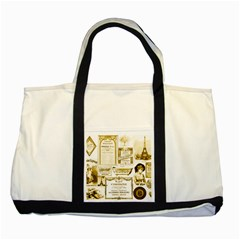 Parisgoldentower Two Toned Tote Bag