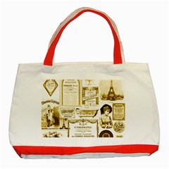 Parisgoldentower Classic Tote Bag (Red)