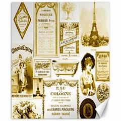 Parisgoldentower Canvas 8  x 10  (Unframed)