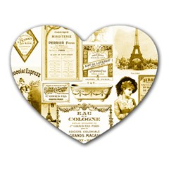 Parisgoldentower Mouse Pad (Heart)