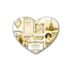 Parisgoldentower Drink Coasters 4 Pack (Heart)