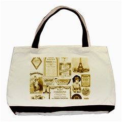 Parisgoldentower Twin-sided Black Tote Bag