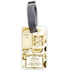 Parisgoldentower Luggage Tag (one Side)