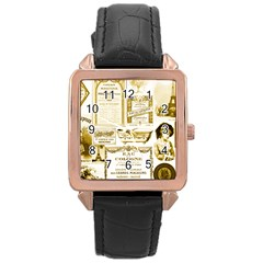 Parisgoldentower Rose Gold Leather Watch