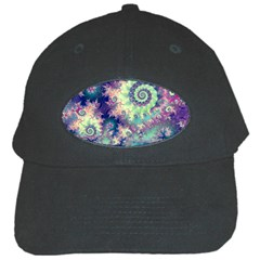 Violet Teal Sea Shells, Abstract Underwater Forest Black Cap