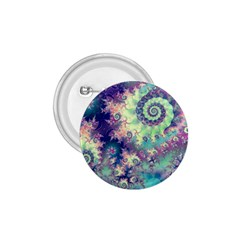 Violet Teal Sea Shells, Abstract Underwater Forest 1.75  Button