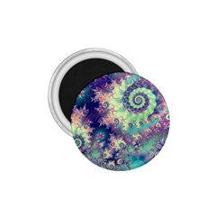 Violet Teal Sea Shells, Abstract Underwater Forest 1.75  Magnet