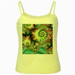 Violet Teal Sea Shells, Abstract Underwater Forest Yellow Spaghetti Tank