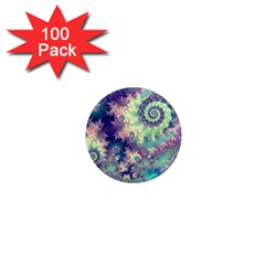 Violet Teal Sea Shells, Abstract Underwater Forest 1  Mini Magnet (100 Pack)
