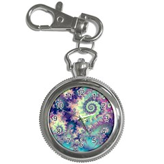 Violet Teal Sea Shells, Abstract Underwater Forest Key Chain Watch