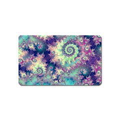 Violet Teal Sea Shells, Abstract Underwater Forest Magnet (Name Card)