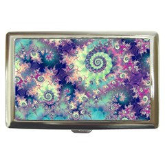 Violet Teal Sea Shells, Abstract Underwater Forest Cigarette Money Case