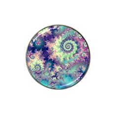 Violet Teal Sea Shells, Abstract Underwater Forest Hat Clip Ball Marker