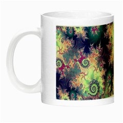 Violet Teal Sea Shells, Abstract Underwater Forest Night Luminous Mug