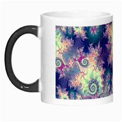 Violet Teal Sea Shells, Abstract Underwater Forest Morph Mug