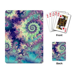 Violet Teal Sea Shells, Abstract Underwater Forest Playing Cards Single Design