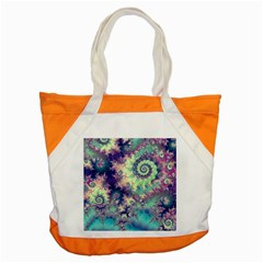 Violet Teal Sea Shells, Abstract Underwater Forest Accent Tote Bag