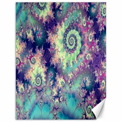 Violet Teal Sea Shells, Abstract Underwater Forest Canvas 12  x 16