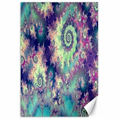 Violet Teal Sea Shells, Abstract Underwater Forest Canvas 20  X 30