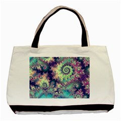 Violet Teal Sea Shells, Abstract Underwater Forest Classic Tote Bag (Two Sides)