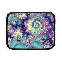 Violet Teal Sea Shells, Abstract Underwater Forest Netbook Case (small)
